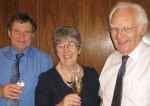 [ L-R Dr Bob Allwood, CE of the SUT, Judith Patten MBE, Prof John Sharp, chairman of the Marine Renewable Energies Committee]