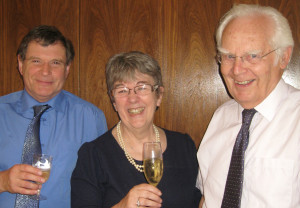L-R Dr Bob Allwood, CE of the SUT, Judith Patten MBE, Prof John Sharp, chairman of the Marine Renewable Energies Committee